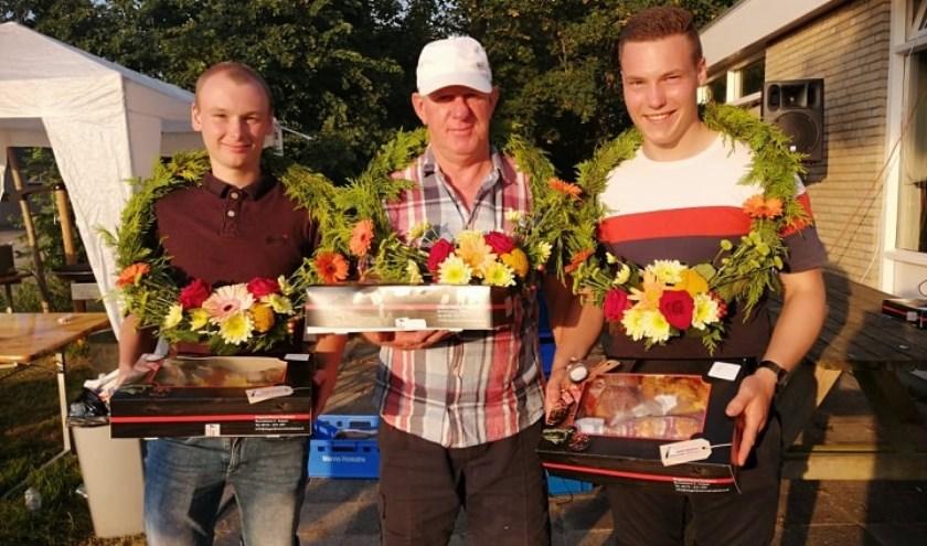 Het winnende partuur Douwe Pieter Kuiper, Pieter Sikkema en Jaap Bergema.