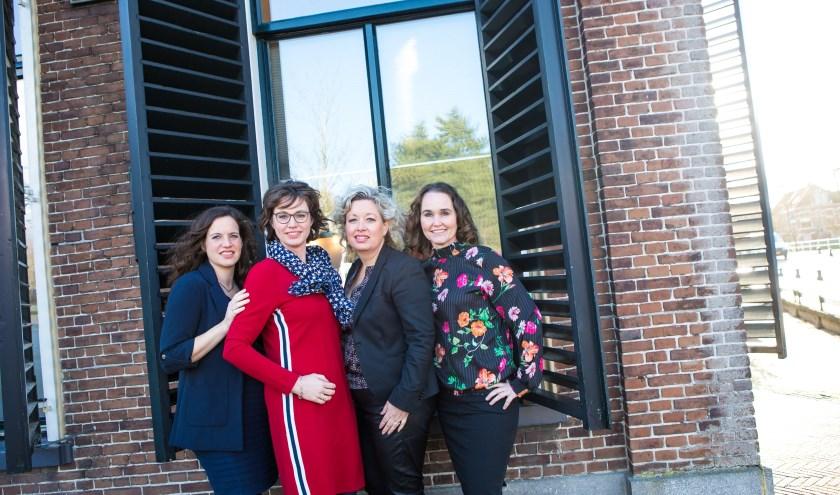 De vier advocaten van Kooi advocaten in Dokkum.