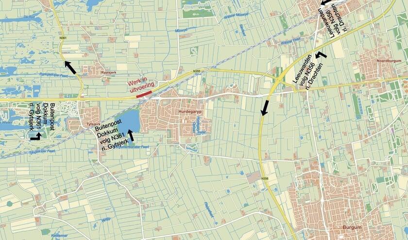 De tweede en derde fase van de werkzaamheden aan de wegen inHurdegaryp gaan volgende week van start.