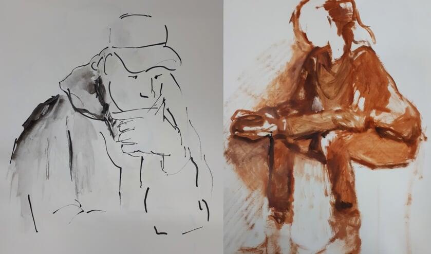 Leer model tekenen en schilderen bij VAKwerk in Burgum.