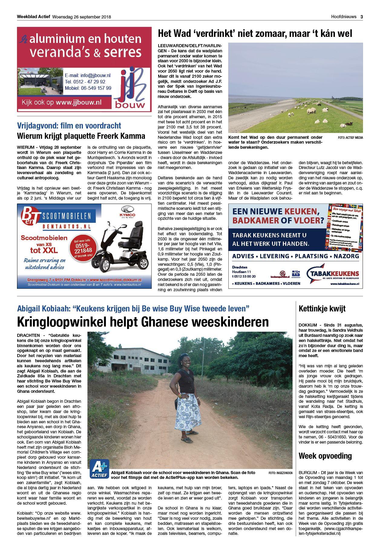 Weekblad Actief Editie Midden 26 September 2018