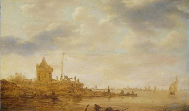 Schilderij van Jan van Goyen, wachttoren langs de rivier. 1644. collectie Rijksmuseum/uit: