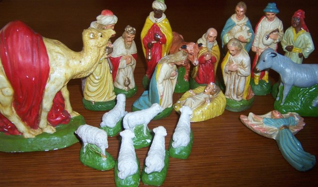 Kerstgroep uit jaren '50. (foto: Ria Visser-Huijnk)