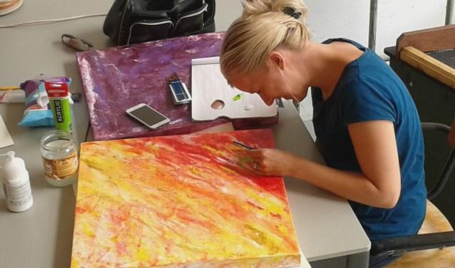 Kleur in atelier 't Duifje (foto: Letty Groenen)