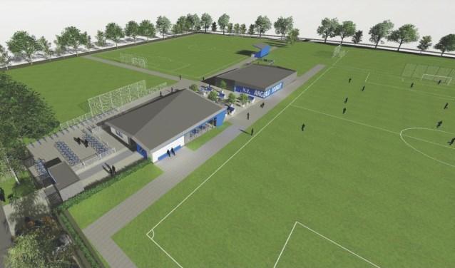 Impressie van sportcomplex Mariëndaal. (beeld: Hurenkamp Architecten)