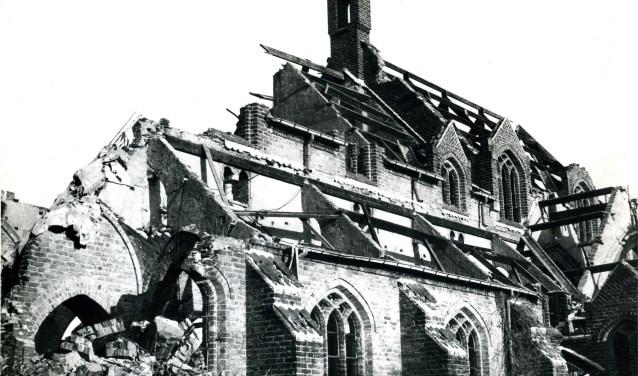 Kerk in de oorlog 1944-1945 verwoest