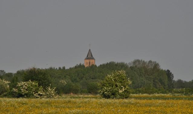 Overzicht Rosandse Polder met kerk Oud-Zevenaar (foto: Gerrit van Alst)