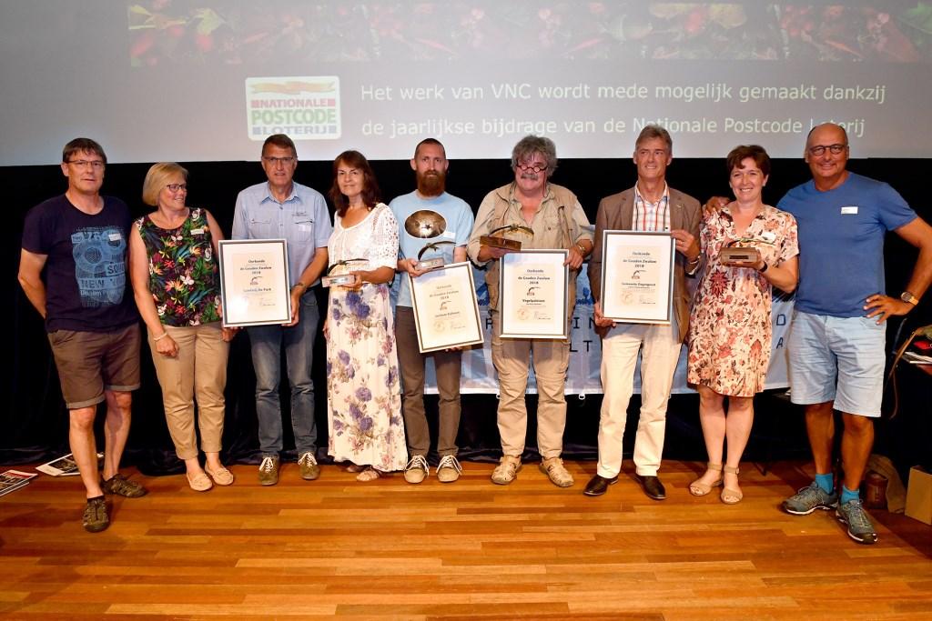 Winnaars Gouden Zwaluw 2018 (Foto: Vereniging Nederlands Cultuurlandschap)  © Hét Gemeentenieuws