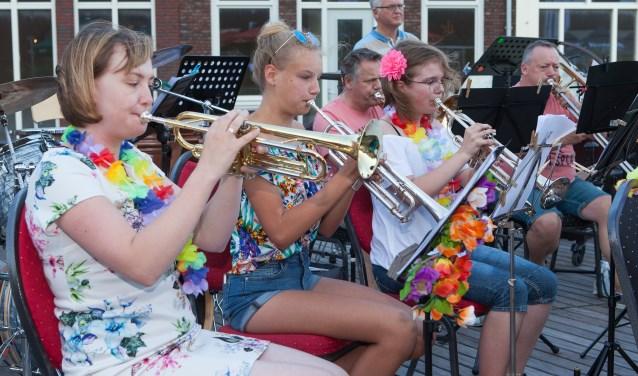 Trompettisten van Liemers Harmonie Duiven (foto: Eddy de Wild)