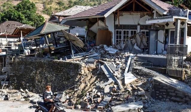 Ingestort kindertehuis van stichting Harapon Baru