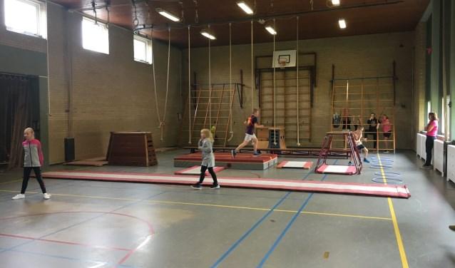 Gymles in de gymzaal. (foto: SV-Olympia)