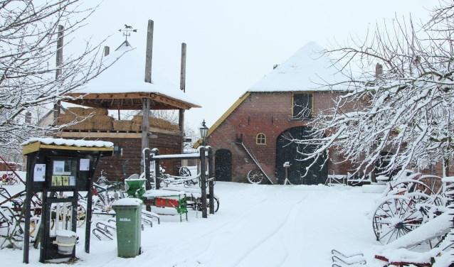 Den Tip in wintersfeer. (foto: Fons Brekelmans)