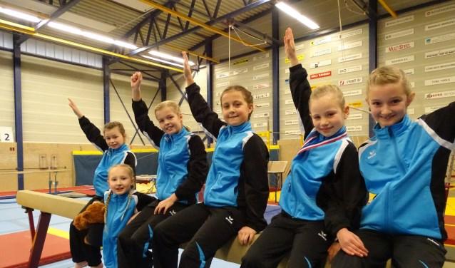 Van links naar rechts: Xayenne, Nika, Lotte, Mila, Robin en Emma. (foto: I. de Wit)
