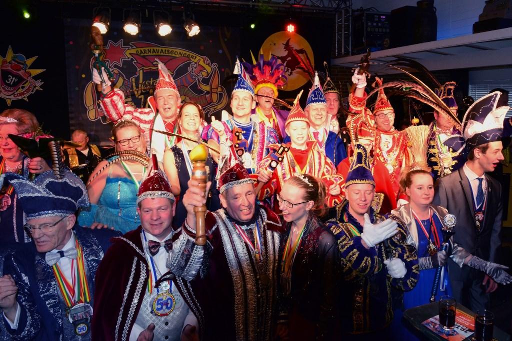 Alle Prinsen bij elkaar. (foto: Johan Vermeulen) Foto: Johan Vermeulen © Hét Gemeentenieuws