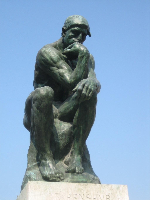 'De denker' Rodin. (foto: Jan van Zellingen)