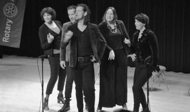 Musicalensemble Marcato in actie. (foto: Frans Prick)
