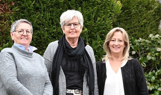 Erna van den Heuvel, Ada Schreurs en Marion Schepers- Lovendaal. (foto: Vincent Schepers)
