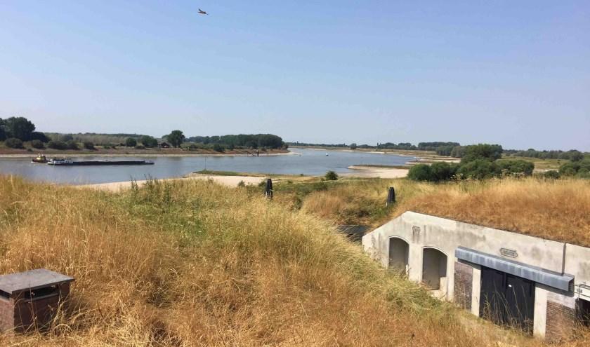 Uitzicht vanaf Fort Pannerden. (foto: C. van Eerd)