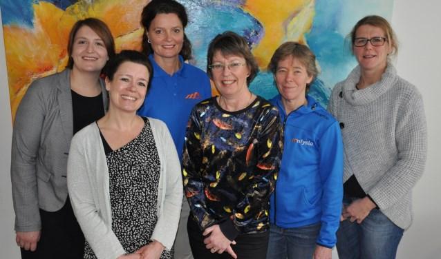 Enkele betrokken hulpverleners bij de werkgroep zorg rond kanker.