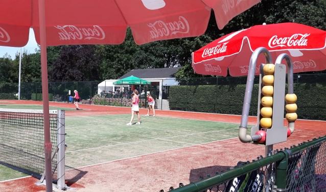 Tennispark TC Valburg. (foto: Willem Wunderink)