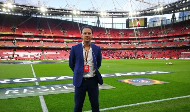 Daniel Agus uit Huissen vlak voor de wedstrijd van 'zijn' Atletico Madrid bij Arsenal, halve finale Europa League in april 2018.