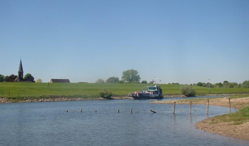 Boottocht richting Griethausen. (foto: Jannet Tigchelaar)