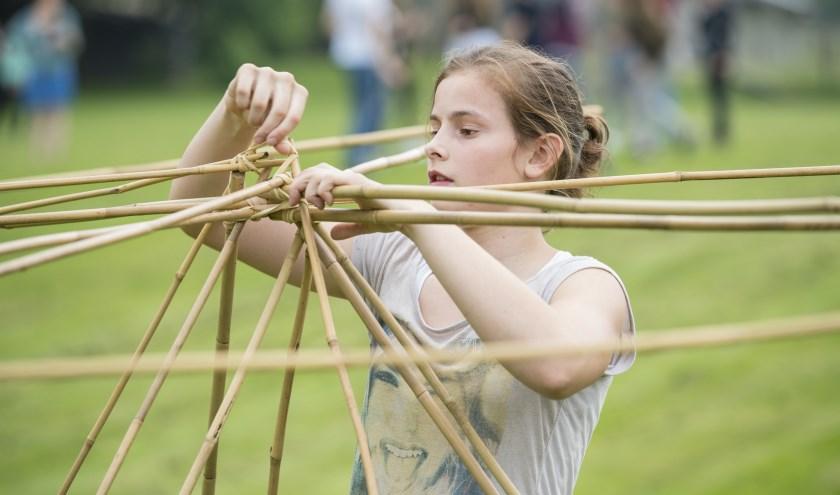 Met bamboe bouwen