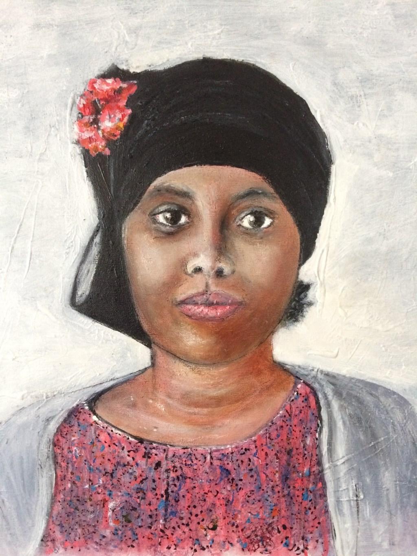 Edil, mijn Somalisch schildermodel. (foto: A.M. van Baggem-Stoel) Foto: Picasa © Hét Gemeentenieuws