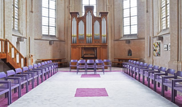Het nieuwe koororgel in de Grote Kerk te Elst. (foto: Carel van Gestel)