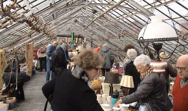 De vorige keer gehouden spulletjesmarkt van het LWMK. (foto: Gérard Siepman)
