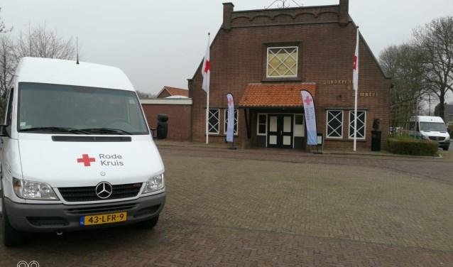 Rode Kruis Lingewaard-Overbetuwe was onlangs nog actief in Doornenburg. (foto: Eric Versteeg/Rode Kruis)