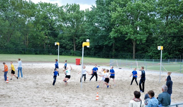 Korfbalwedstrijd. (foto: Bertjan Bleumink)