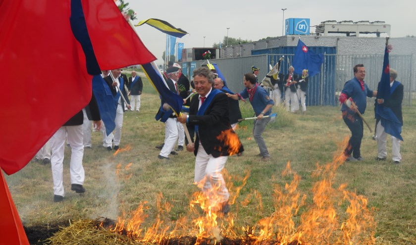 De slag om Huissen, Molenweide. (foto: Gilden Huissen)