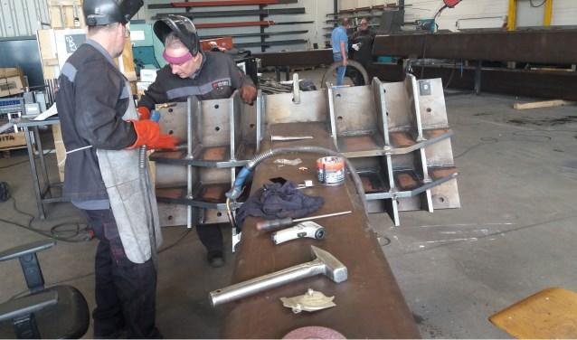 Odion in constructie bij Linsen lastechniek. (foto: Van Hemmen)