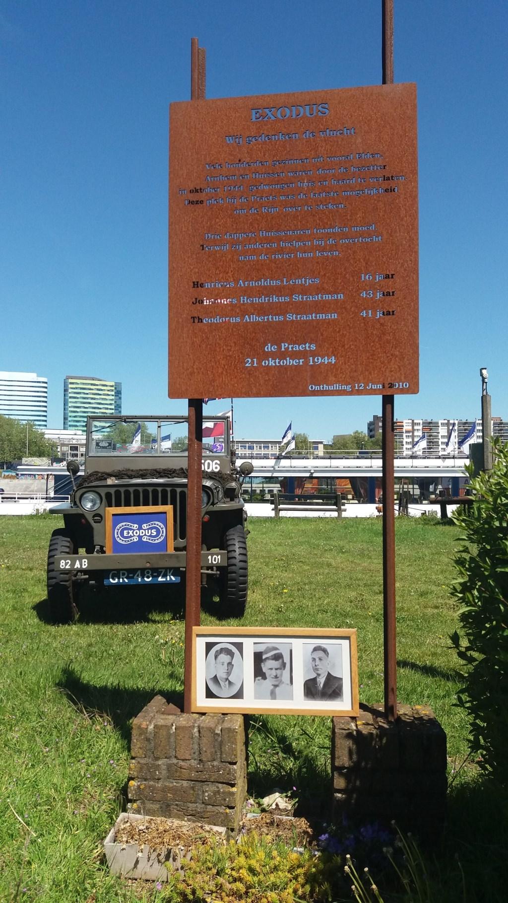 Exodusmonument op De Praets te Arnhem/Elden