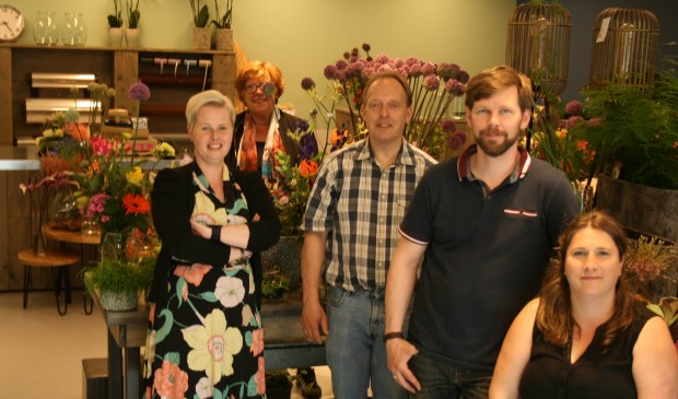Het team van Bloemisterij Schepers