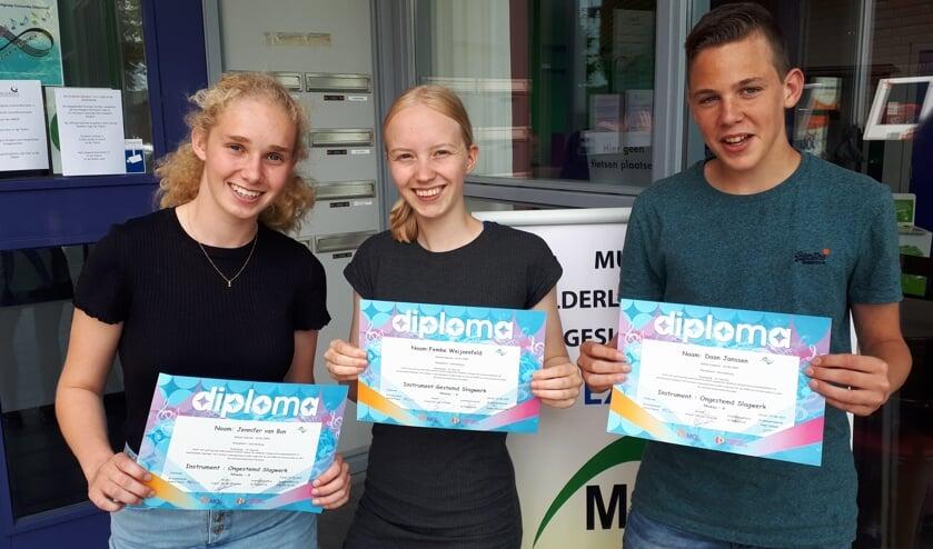 Van links naar rechts: Jennifer van Bon, Femke Weijsenfeld en Daan Janssen.