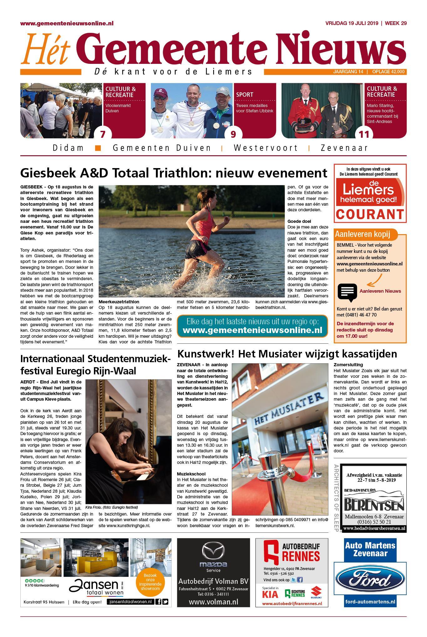 De Liemers Helemaal Goed Courant 19 juli 2019
