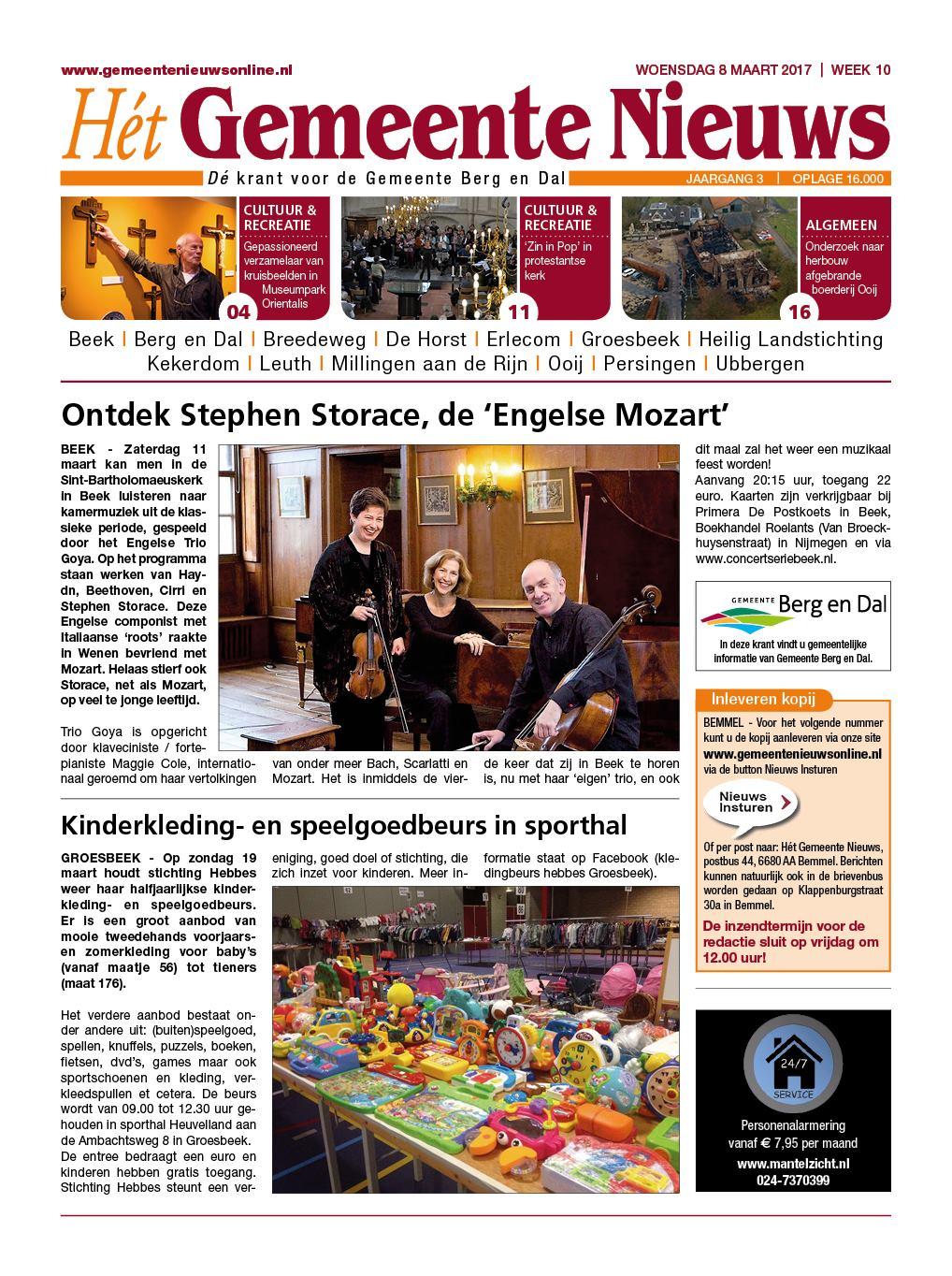 Gn Berg En Dal Heumen Mook 8 Maart 2017